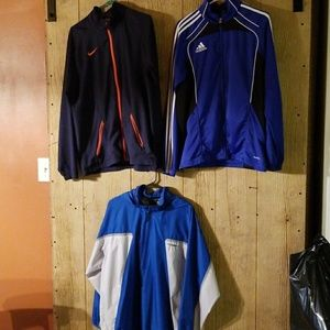Nike&Adidas jackets 3 total all Mens Med